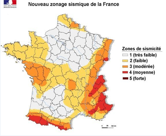 CARTE zone sismique
